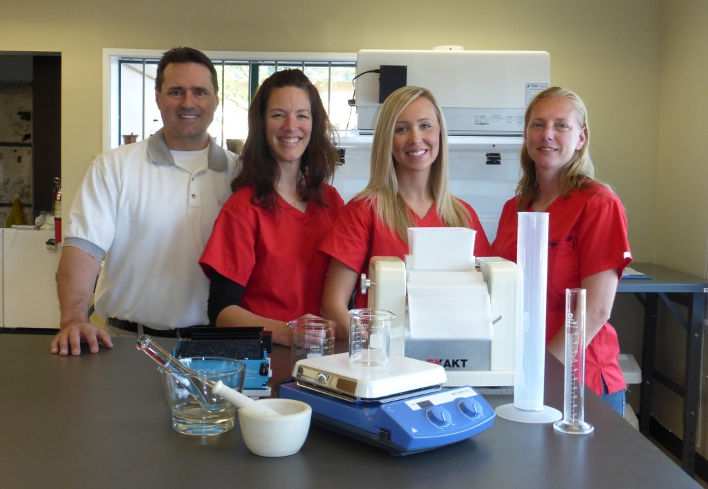 (Pictured: Jeff; owner, Becky; pharmacist, Toree; technician, Dayna; assistant.)